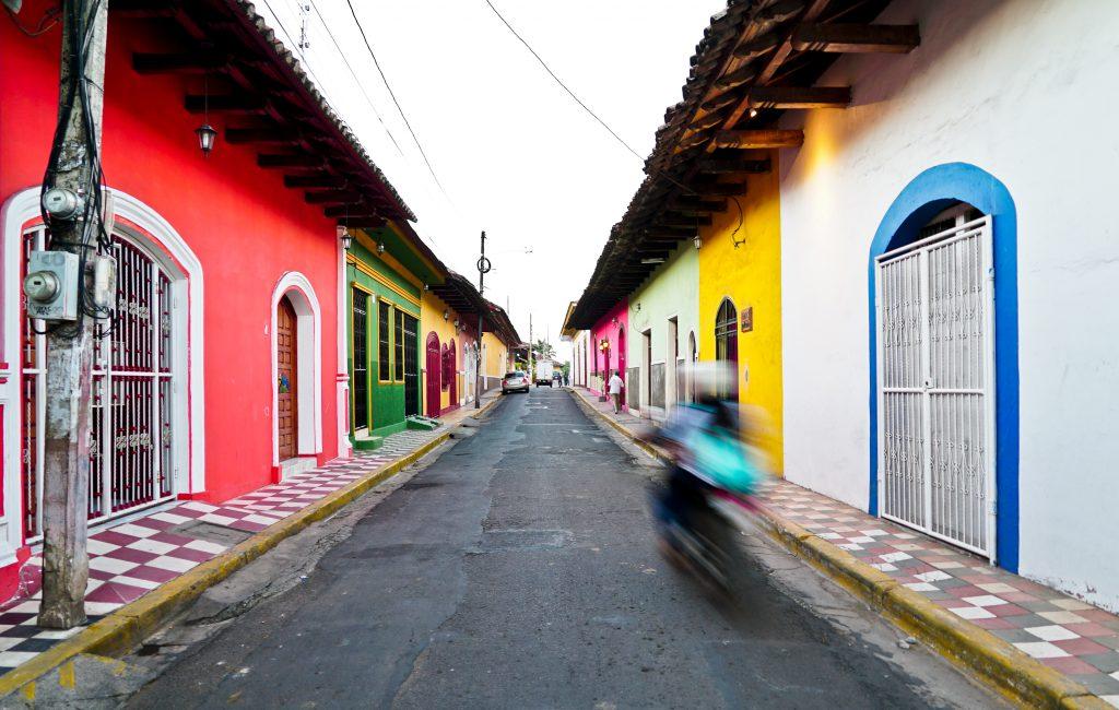 The colourful streets of Granada, Nicaragua.