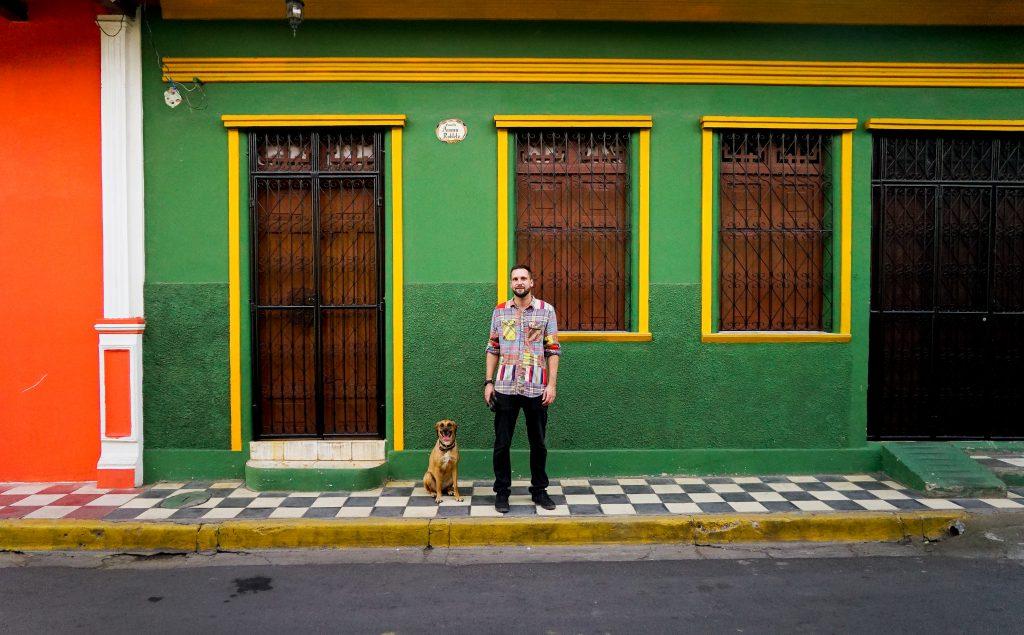 Nick & Kaja on the streets of Granada, Nicaragua.
