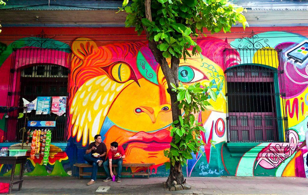 Colourful mural in León, Nicaragua.