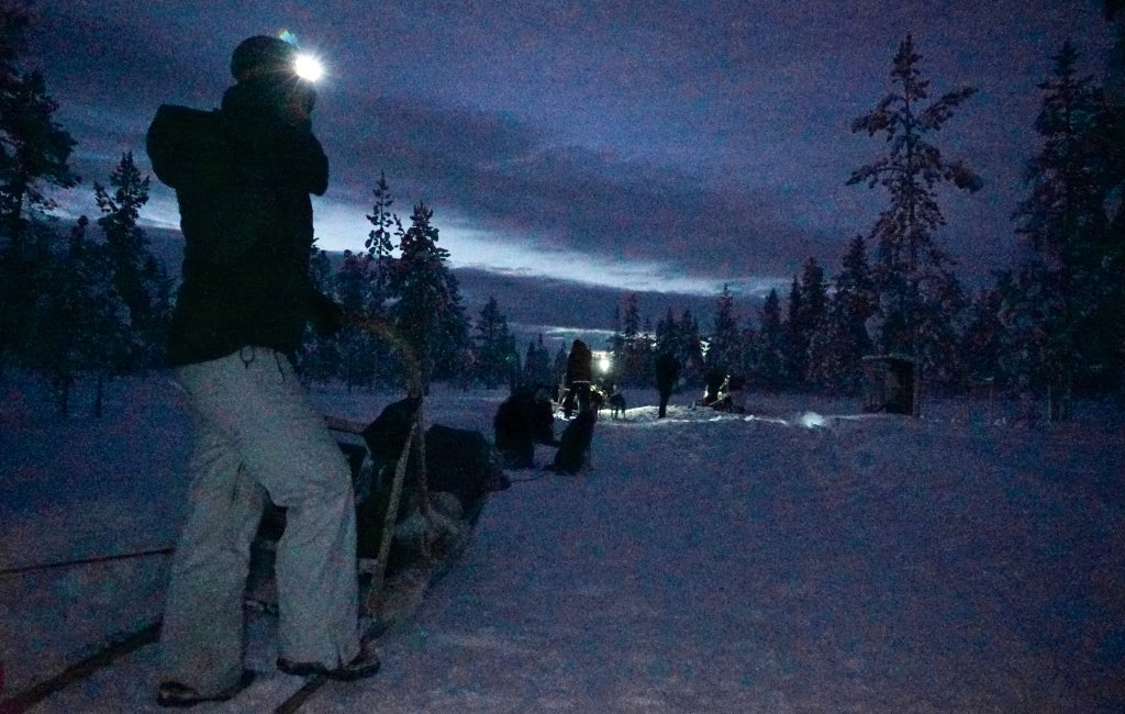 Waiting to start the safari through the Finnish Tundra.